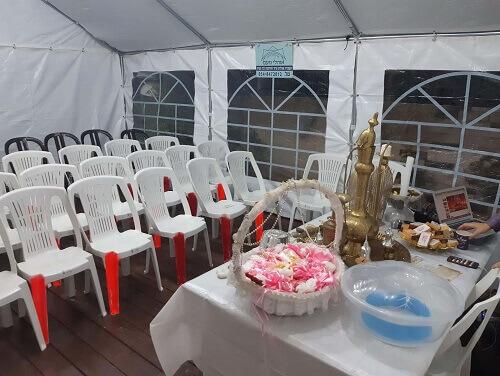 אוהל לחינה - אוהלי נועם